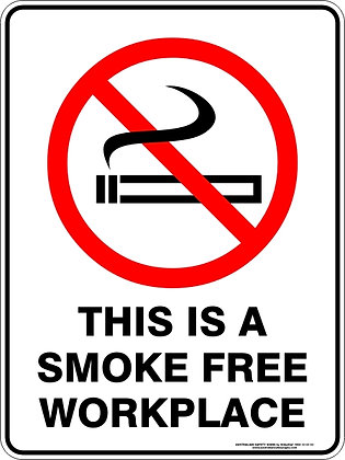 This Is A Smoke Free Work Place Sign