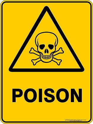 Poison Hazard Warning Sign