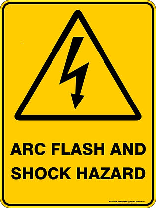 Arc Flash & Shock Hazard Warning Sign