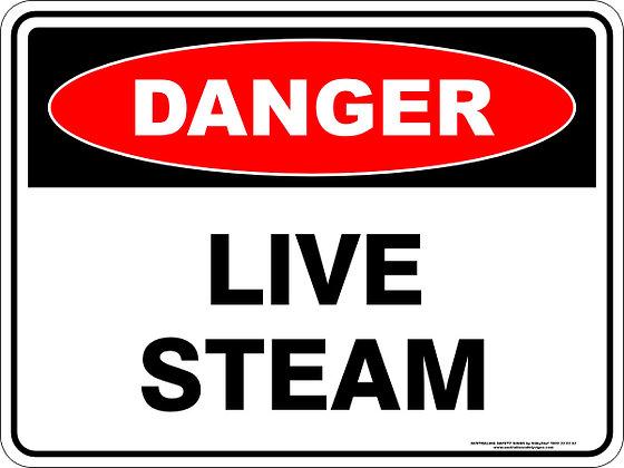 Live Steam Danger Sign