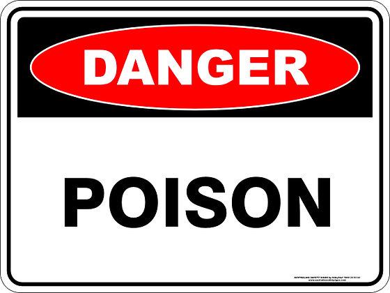 Poison Danger Sign