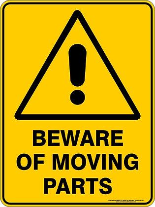 Beware Of Moving Parts Warning Sign