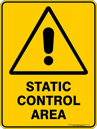 Static Control Area Hazzard Warning Sign