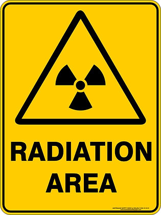 Radiation Area Warning Sign