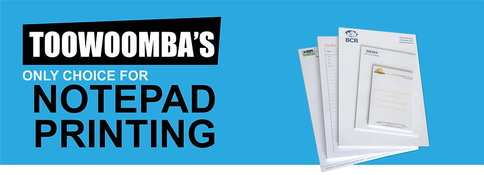 Notepad printing toowoomba