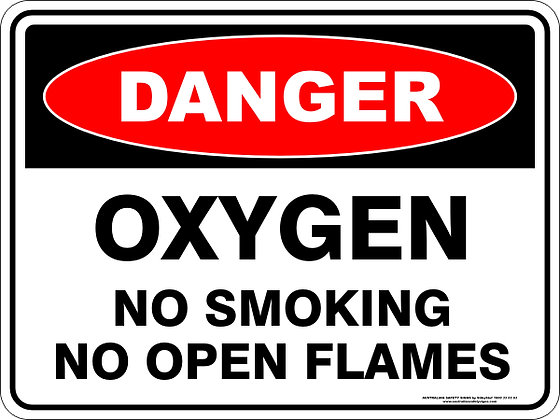 Oxygen No Smoking Danger Sign