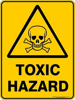 Toxic Hazard Warning Sign