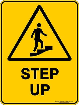 Step Up Hazard Warning Sign