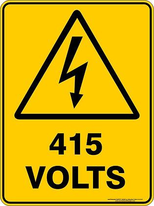 415 Volts  Warning Sign
