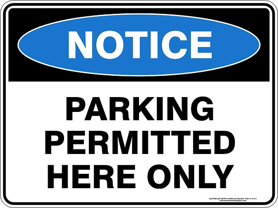 Parking Permitteed Here Only Sign