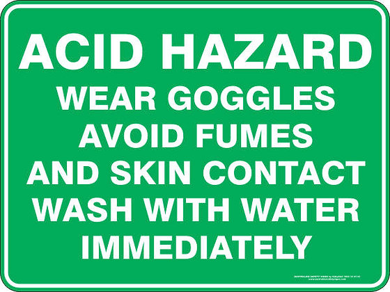 Acid Hazard Sign