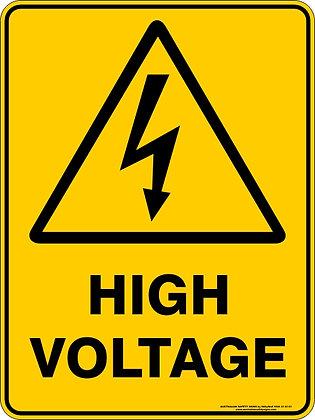 High Voltage Hazard Sign