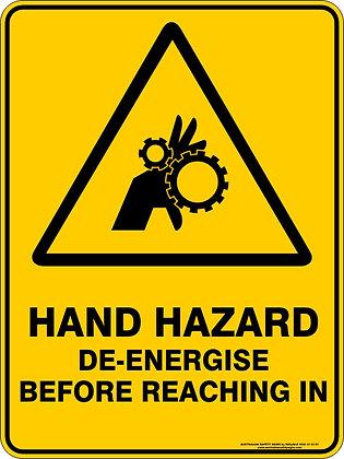 Hand Hazard Sign