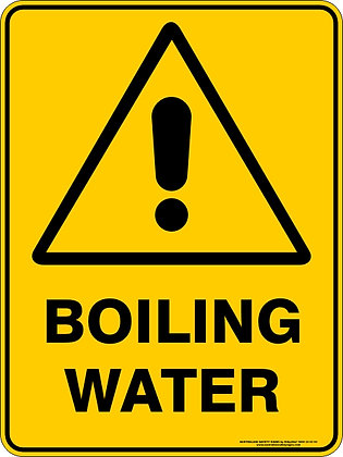 Boiling Water Warning Sign