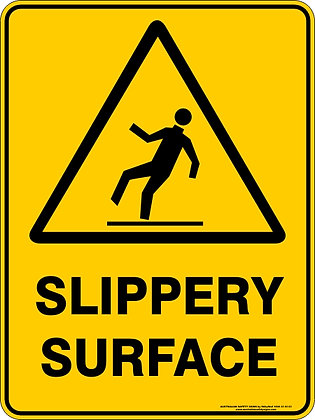 Slippery Surface Hazard Warning Sign