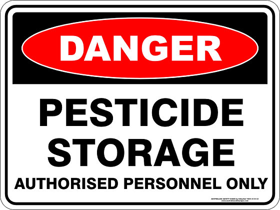 Pesticide Storage Danger Sign