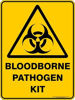 Bloodborne Pathogen Kit Warning Sign