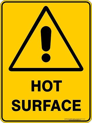 Hot Surface Warning Sign