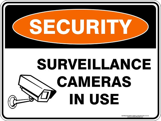 Surveillance Cameras In Use Sign