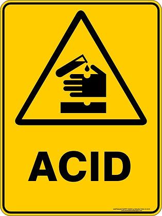 Acid Hazard Warning Sign