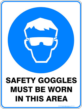 Safety Goggles Must Be Worn Sign