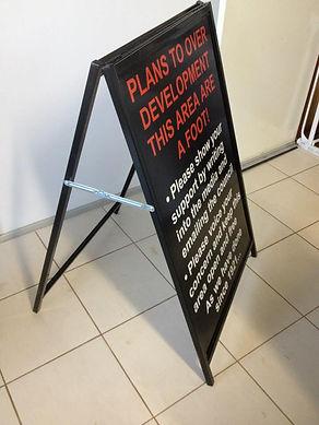 Corflute Aframe Sign Toowoomba