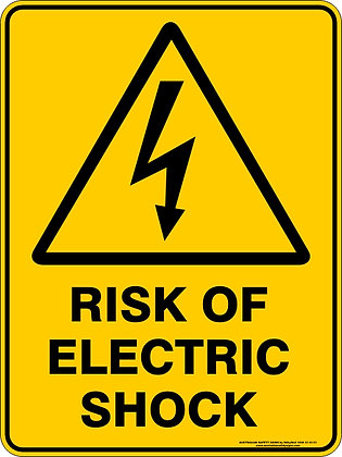Risk Of Electric Shock Hazard Warning Sign
