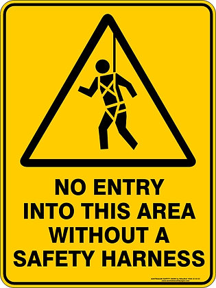 No Entry Into This Area Without A Safety Harness