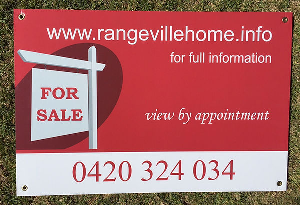Commercial Real Estate Signage, Corflute Signs Toowoomba, Sign shop Toowoomba, Yard signs, open house signs