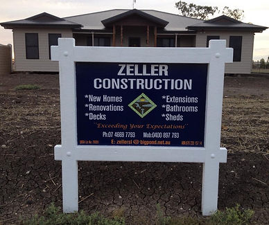 builders site sign