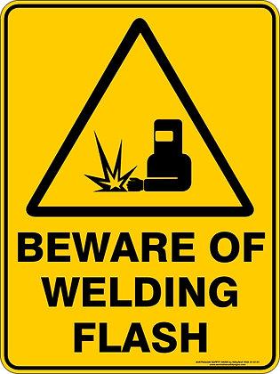 Beware of Welding Flash Warning Sign
