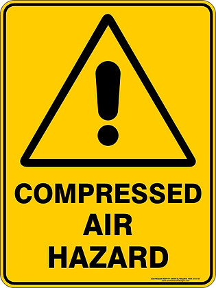 Compressed Air Hazard Warning Sign