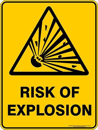 Risk Of Explosion Warning Sign