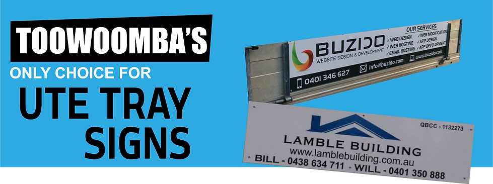 Ute Vehicle Signs Toowoomba Vinyl Lettering Pozzy