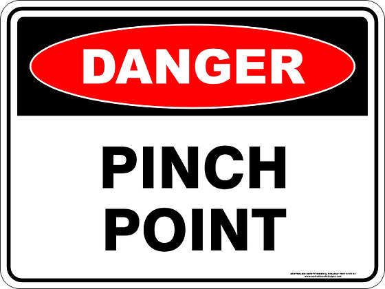 Pinch Point Danger Sign
