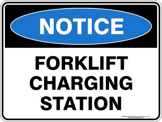 Forklift Charging Station Sign