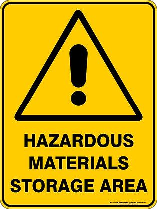 Hazardous Materials Storage Area Warning Sign