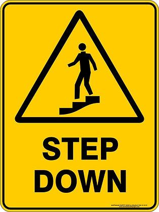 Step Down Hazzard Warning Sign