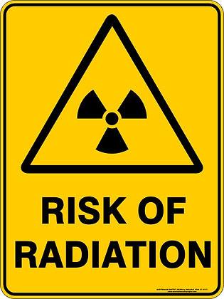 Risk Of Radiation Sign