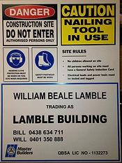 Building Site Signage Toowoomba
