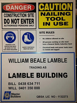 Builders Safety Sign