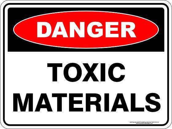 Toxic Materials Danger Sign