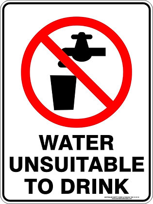 Water Unsuitable To Drink Sign