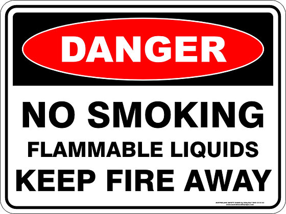 No Smoking Flammable Liquids DangerSign