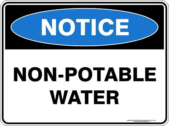 Non-Potable Water Sign