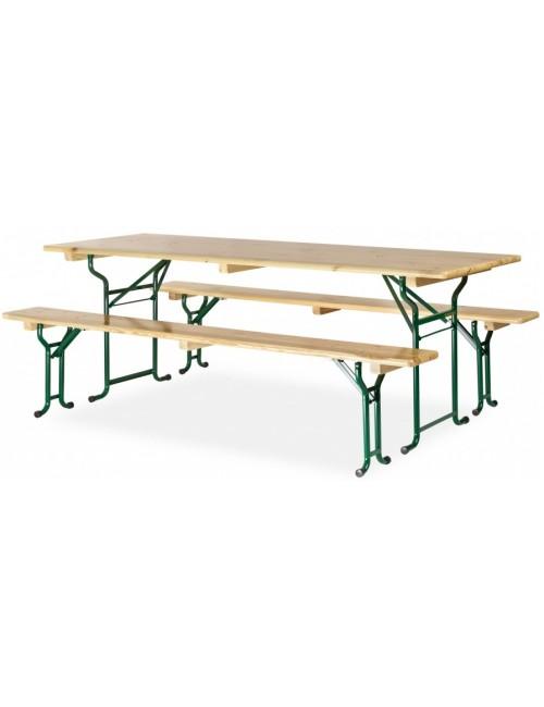 Table brasserie avec banc