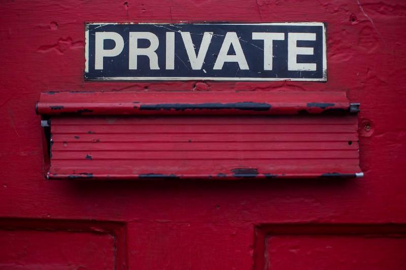 Private. Photo by Dayne Topkin on Unsplash