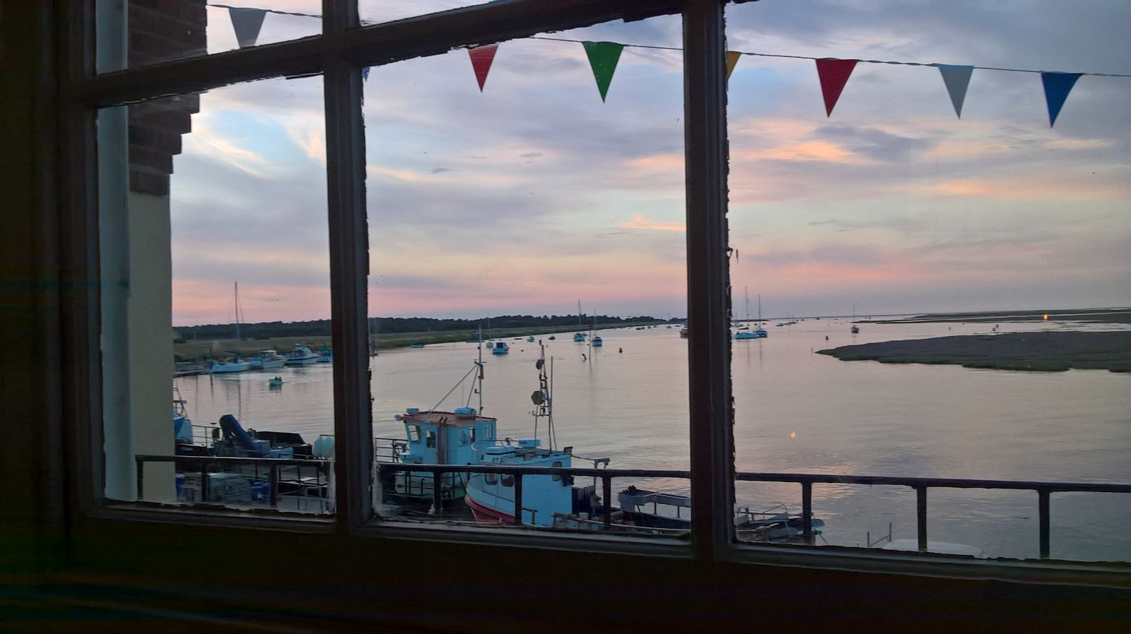 Wells harbour from local pub