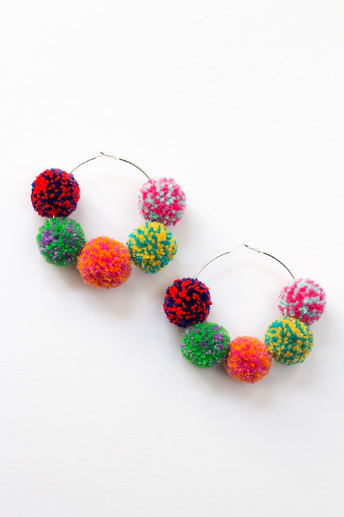 Multi Speckled Hoops