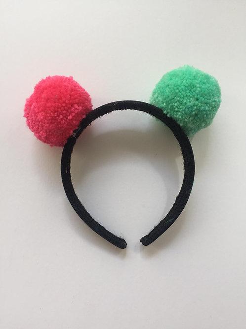 Two Pom Pom Headband